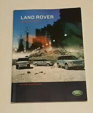 2008 LAND ROVER NAVIGATION SYSTEM OWNERS MANUAL RANGER ROVER SPORT LR3 HSE SUPER
