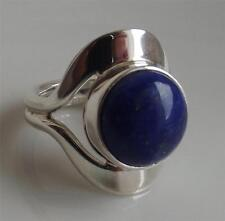 TAXCO TRADITIONS MEXICO LAPIS LAZULI GEMSTONE STERLING SILVER RING UK- M NEW QVC
