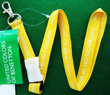 NEW United Colors of Benetton Strap Keychain Holder YELLOW