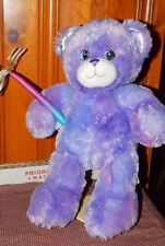 Build a Bear Purple Glitter Plush Bear Wizards Waverly Place Selena Gomez + Wand