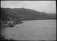 Glass Magic Lantern Slide NORWEGIAN LOCATION NO35 C1930 PHOTO NORWAY FJORD