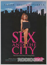 Sarah Jessica Parker Sex and the City New Series '90s HBO TV Print Ad Page 1998