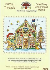BOTHY THREADS SEW DINKY XMAS GINGERBREAD HOUSE COUNTED CROSS STITCH KIT 20x15cm