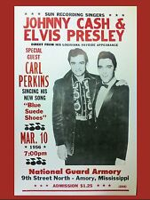 "Elvis / Johnny Cash Armory 16"" x 12"" Photo Repro Concert Poster"