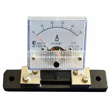 Analog Ammeter Panel AMP Current Meter DC 0-50A  85C1 Gauge + Shunt