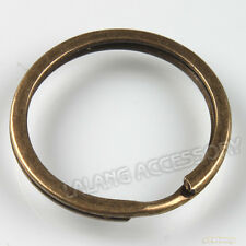 50x Retail Vintage Style Bronze Tone Round Strong Split Rings Fit Keychain 30mm