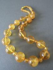 Vintage Natural Baltic Butterscotch Egg Yolk Honey Amber Round Bead Necklace