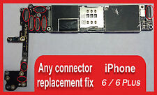 iPhone 6 / 6 PLUS Logic Board ANY Connectors Repair Service Replacement ( qty-1)