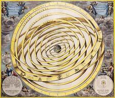 """Carte céleste C 1708 reproduction style vintage par ANDRES celarius 22 """"x 18"""" app"""