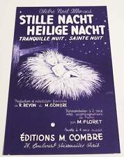 Partition sheet music CHANT DE NOEL : Stille Nacht Heilige Nacht * EX Germany