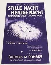 Partition sheet music CHANT DE NOEL : Stille Nacht Heilige Nacht * EX Germany