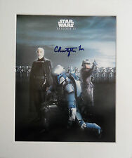 CHRISTOPHER LEE Signed 12x10 Photo Display STAR WARS & DRACULA Hammer Horror COA