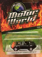 Greenlight MOTOR WORLD  Series 17  1965 Shelby Cobra 427 S/C  black w/ flames