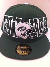 Authentic New York Ny NY Jets New Era 59fifty Cap Hat Size 7 1/2 Nfl NFL nfl New