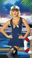 Ladies Sailor Fancy Dress Costume Hen Do Party Outfit with HAT size 12 - 14