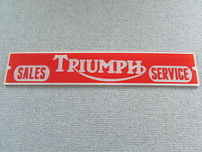 Triumph Motorcycles Sales & Service Sign Man Cave Garage Art