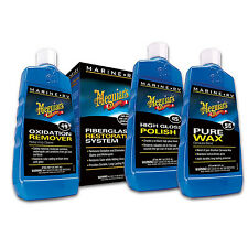 Meguiar's Marine/RV Fiberglass Restoration System Boats Motor Homes Wax Polish