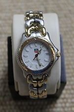 Tag Heuer Watch Mens SEL Womens WG1222.BB0438 Midsize Link S/EL 2TONE GOLD WHITE