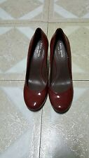 KATE SPADE NEW YORK BURGUNDY PATENT LEATHER WEDGE SHOES SIZE: 7.5 M