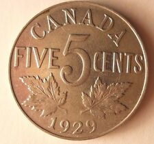 1929 CANADA 5 CENTS - KGVI - High Quality - FREE SHIP - Canada Bin