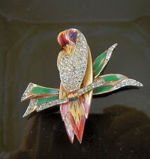 CoroCraft Sterling Bird on a branch Fur Clip