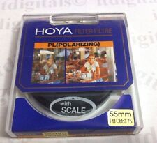 Hoya 55mm PL Polarizer Polarizing  Lens Filter Filtre Japan Polar With Scale New