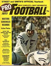 1971 Street & Smiths Pro Football magazine, Earl Morrall, Baltimore Colts ~ Good