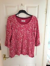 Ladies Per Una Pretty Top Pink Size 16 With Scarf