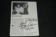 ETTA CAMERON signed Autogramm In Person POP LEXIKON + 2010 signiert 1982 !!