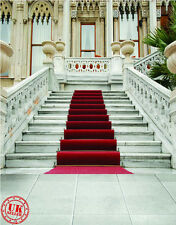 WHITE STAIRS RED CARPET BACKDROP BACKGROUND VINYL PHOTO PROP 5X7FT 150x220CM