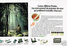 Publicité advertising 1991 (2 pages) Calculatrices Copieur Imprimante Canon