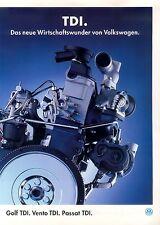 VW Golf Vento Passat TDI Prospekt 1994 1 94 sales brochure Autoprospekt Auto Pkw