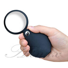 Outdoor Home Classroom Folding 5-10 X Loupe Pocket Magnifier Magnifying Glass