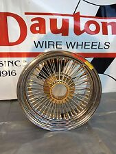 New Dayton Wire Wheels: 16 x 9 Gold Hub & Nips, 72 Spoke, Standard, Set of 5