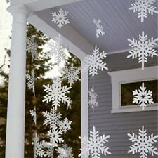 3D Snowflake Hanging Bunting Banner Garland Paper Christmas Party Decoration