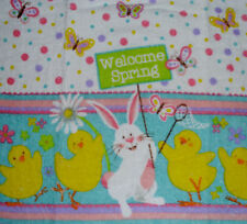 Kitchen Dish Towels Crochet Tops -Listing #t482 Easter Welcome Spring Butterfly