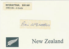 Brian McGrattan NZ ALL BLACK SIGNED RUGBY CARD