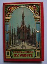 Carnet ancien ITALIE 32 VUES MILAN - RICORDO DI MILANO 32 VEDUTE