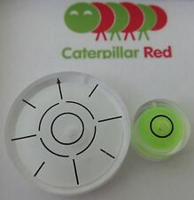 2 Pack -Medium & Mini Circular Bulls Eye Bubble Level - Tool Clock Hobby Caravan