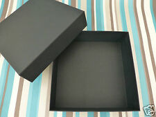 Gift box Boss sml-med black empty present accessory storage boxes used no tag