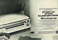 Publicité advertising 1970 (2 pages) Le Photocopieur 3M