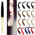 40Pcs Full Head 3M Tape In 100% Human Hair Extensions Remy Hair Ombre Balayage