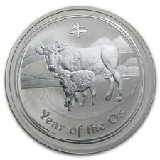 Perth Mint Australia 2009 $2 Lunar Series II Ox 2 oz .999 Silver Coin