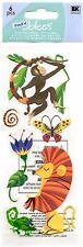 Lion Jungle Monkey Jolee's Stickers Dimensional Butterfly Flowers Scrapbook