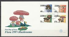 NED. ANTILLEN FDC NR.E-280 FLORA 1997 MUSHROOMS 19.2.1997