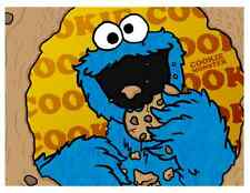 "Cookie Monster Iron On Transfer 5"" x 5.5"" only for LIGHT Colored Fabric"