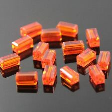 20pcs Swarovski  4x4x8mm Cuboid Crystal beads E Orange