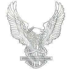 Rhinestone Transfer Hot fix T-Shirt clothing crafts cushion Crystal Big Eagle