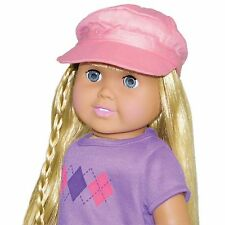 "SF Springfield NEWSBOY CAP for 18"" American Girl Dolls Pink Fashion Hat NEW"