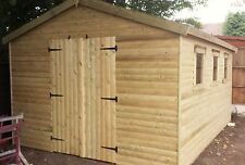 SHED 16x12 Heavy Duty Log-Lap Apex or Pent 3x2  framing FREE DELIVERY
